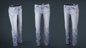 3D jeans cloth