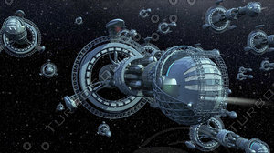 Alien spaceships invading Earth