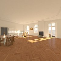 apartment interior settings 3D