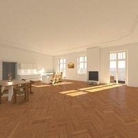 apartment interior settings 3D