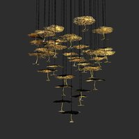 chandelier gold moon catellani 3D model