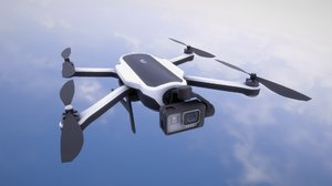 gopro aircraft drone quadcopter 3D model