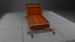 chair queenhetepheres carrying 3D model