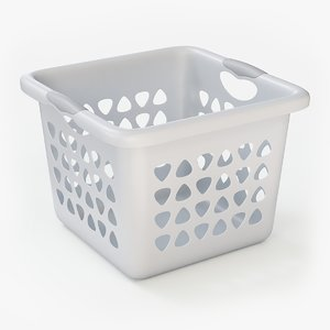 plastic laundry basket 3D model