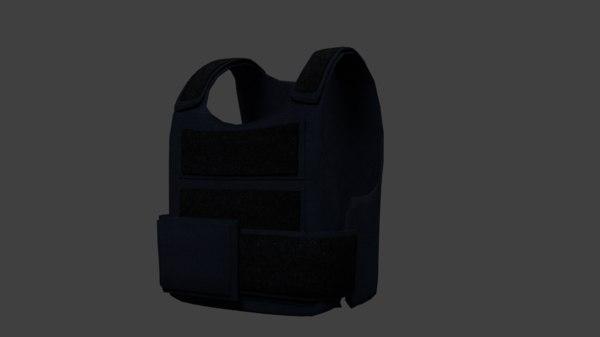 body armor vest 3D model