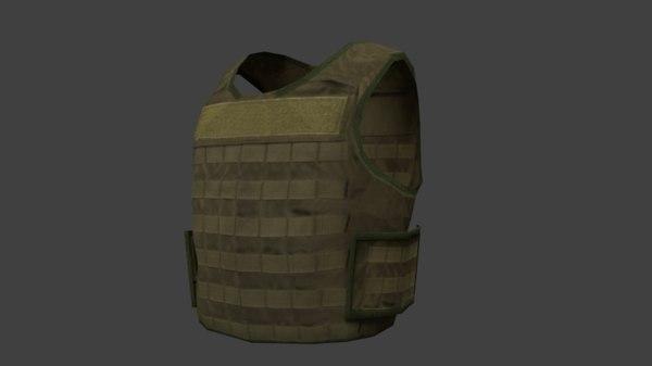 3D tactical bulletproof vest