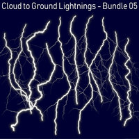 3D model 10 lightnings realistic -