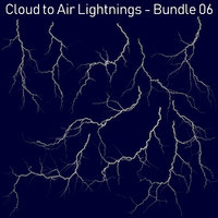 Realistic Lightnings Bundle 06 - 10 pack CA