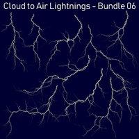 Realistic Lightnings Bundle 06 - 10 pack CA