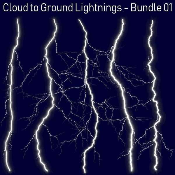 pack 5 lightnings - 3D
