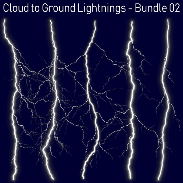 3D pack 5 lightnings -