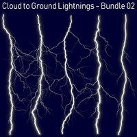 3D pack 5 lightnings -
