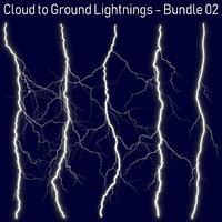 Realistic Lightnings Bundle 02 - 5 pack CG