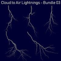Realistic Lightnings Bundle 03 - 5 pack CA