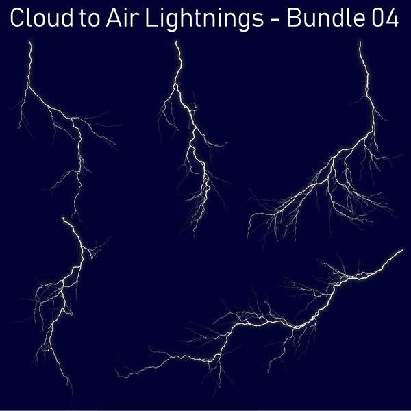 pack 5 lightnings - 3D model