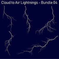 Realistic Lightnings Bundle 04 - 5 pack CA