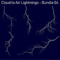 Realistic Lightnings Bundle 04 - 5 pack CA