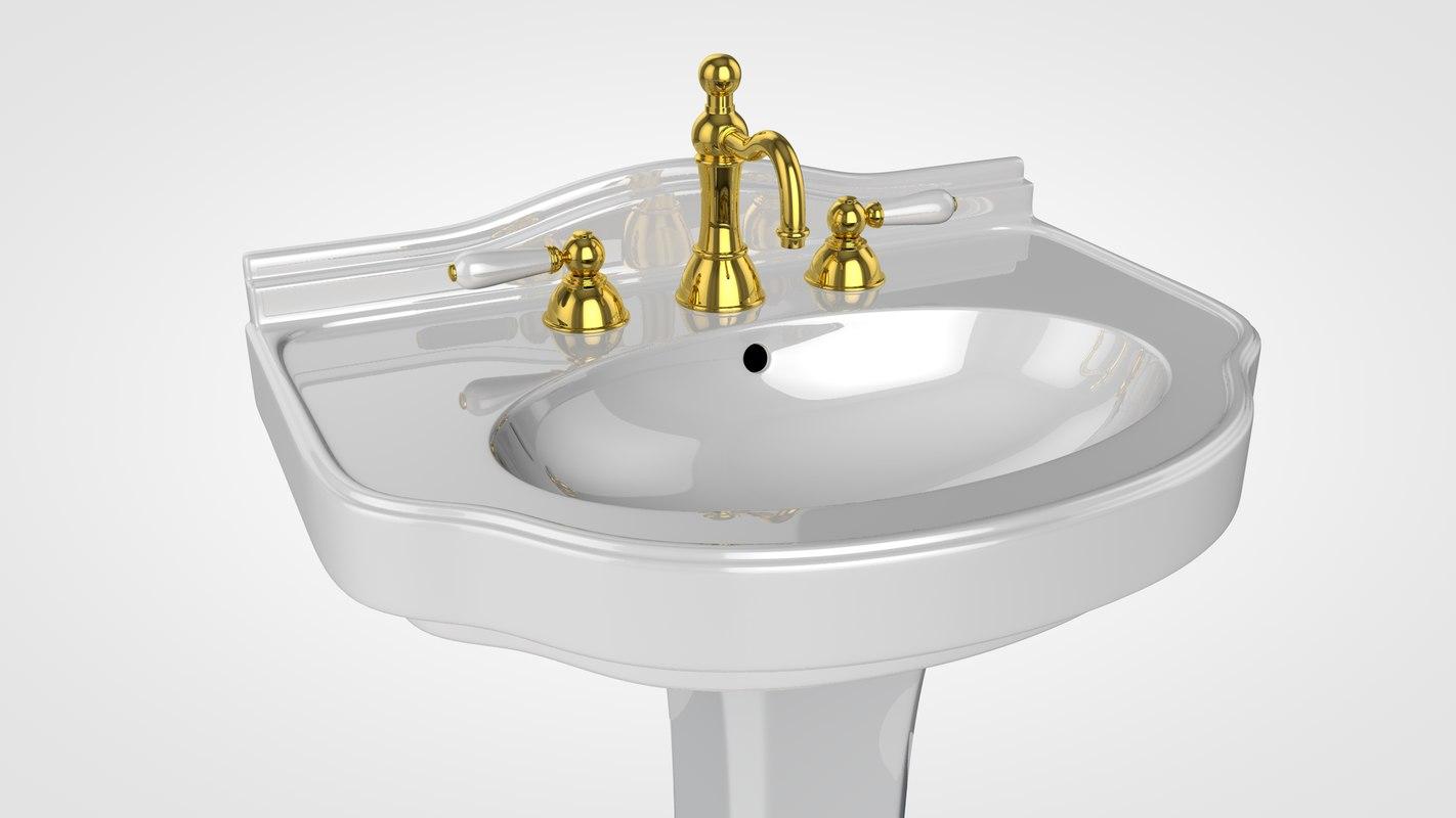 3D classic washbasin