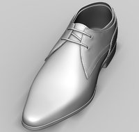 3D model mens shoes