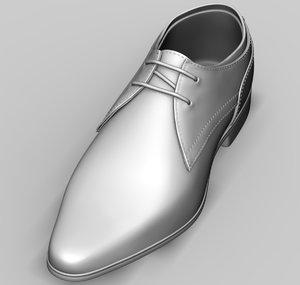 3D model mens shoes