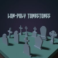 Tombstones Low Poly