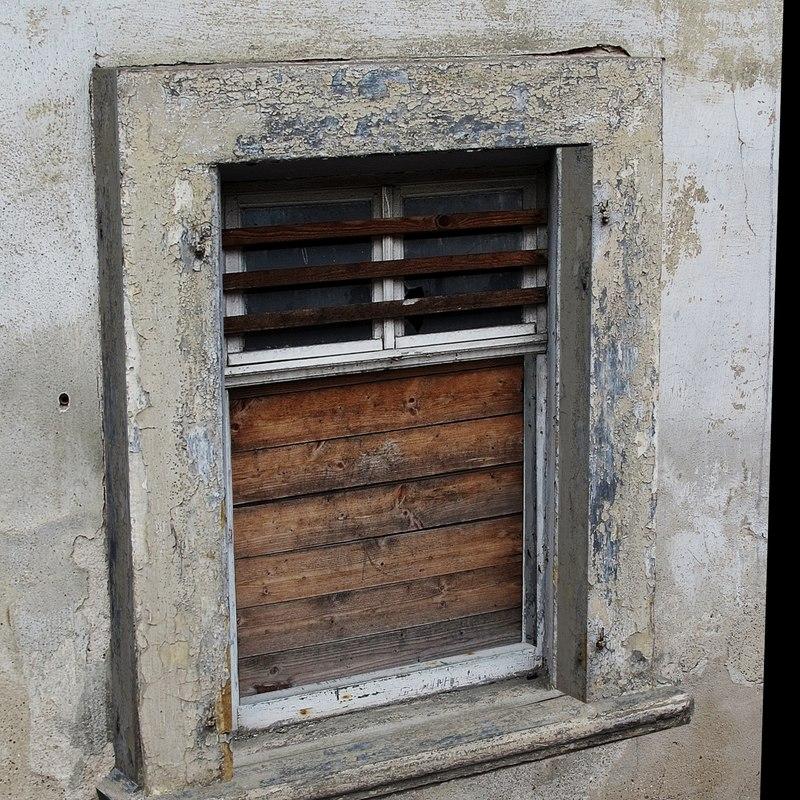 resolution old window 3D model