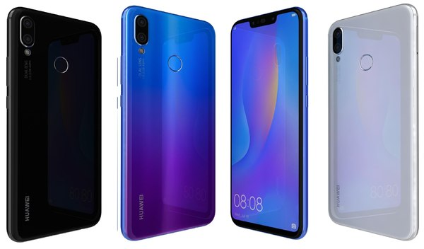 huawei nova 3i colors 3D model