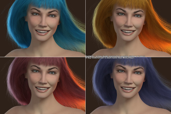 jane head v-ray 3D model