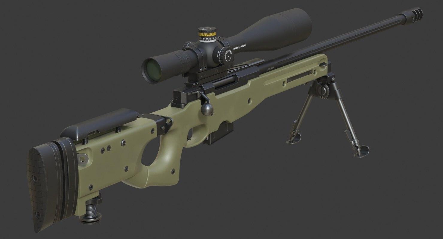realistic l96a1 338 lapua 3D