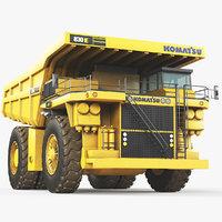 3D dump truck komatsu 830 model