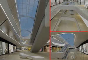 3D model shopping mall