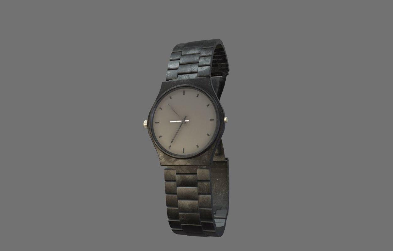 3D model watch fashion