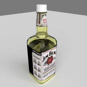 3D jim beam liquor bottle