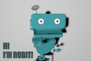 character rigged robot robit 3D model