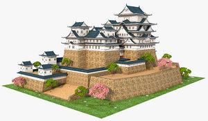 3D himeji castle