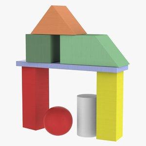 3D primitive building blocks toys