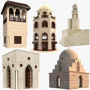 3D model islamic arabic buildings