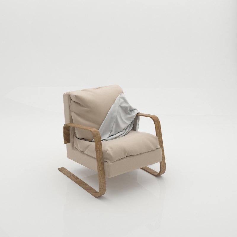 chair blanket model