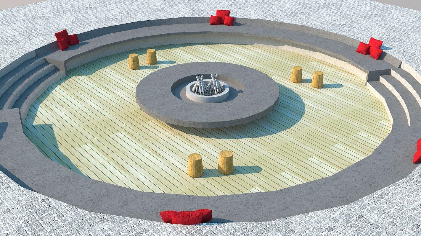 firepit 3D model