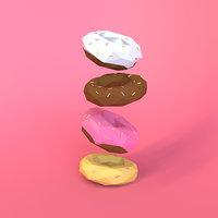 3D polyfooddonuts