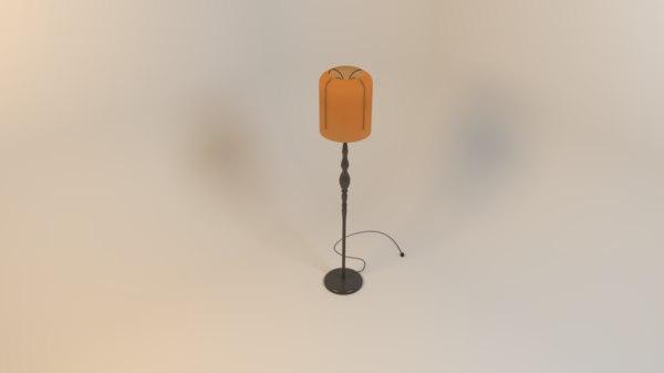 3D stand lamp light model