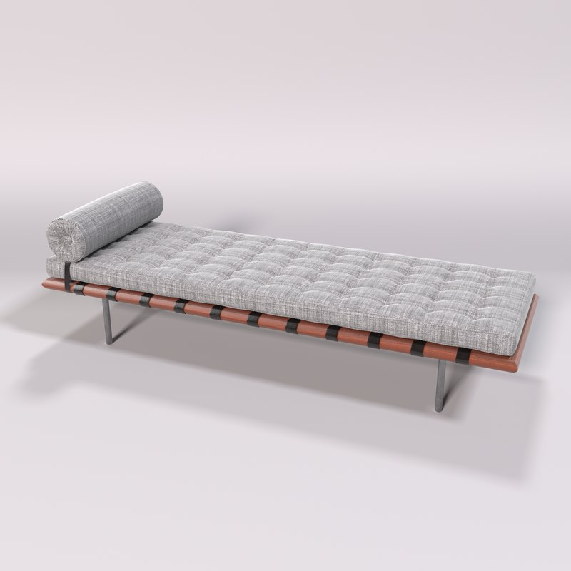 3D barcelona daybed