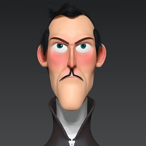 cartoon boos zbrush 3D