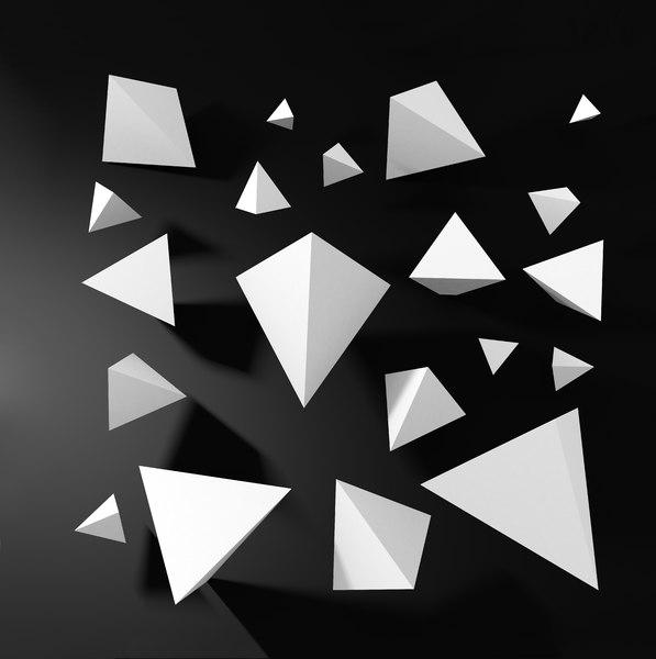 3D polytetrahedron trianglecubegeometryabstract