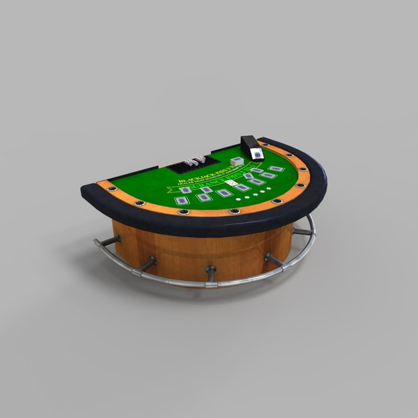 3D black jack table casino