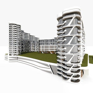 residential apartment building 3D model
