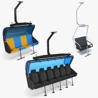 3D chairlift seat model