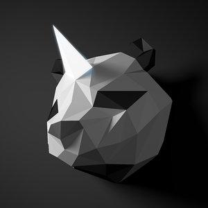 polyunicornpandaanimalhead model