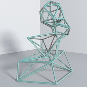 3D abstract sculpture model