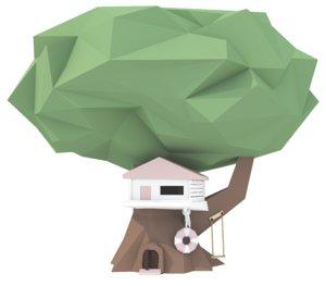 low polytreehouse 3D model